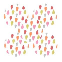 Bouton tissu pluie rose anis (lot5)