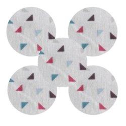 Bouton tissu twini gris fuschia (lot5)