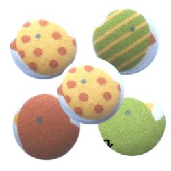 Bouton tissu à coudre Motifs Div REF10