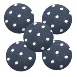 Bouton tissu à coudre Pois REF13 noir