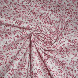 Tissu coton fleurs rose style liberty