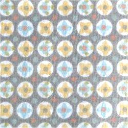 Tissu coton mini triangles fuschia turquoise doré