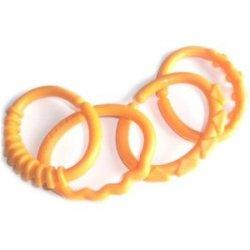 Anneau ouvert plastique relief orange