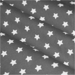 Tissu coton gris / étoiles blanc 9 mm