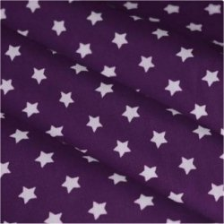 Tissu coton vert menthe / étoiles blanc 9 mm