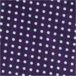 Tissu coton mauve pois blanc 2 mm