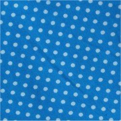 Tissu coton turquoise pois blanc 2 mm