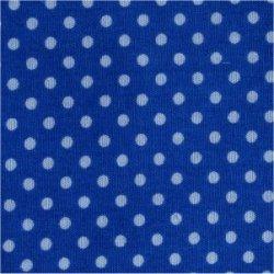 Tissu coton bleu cobalt pois blanc 2 mm