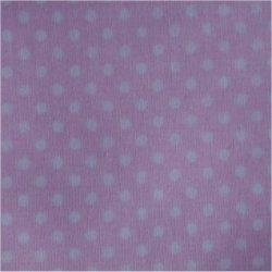 Tissu coton rose clair pois blanc 2 mm