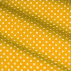 Tissu coton jaune pois blanc 2 mm
