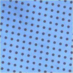 Tissu coton rouge / étoiles blanc 9 mm