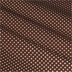 Tissu coton marron pois blanc 2 mm