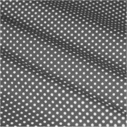 Tissu coton gris pois blanc 2 mm