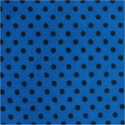 Tissu coton turquoise pois marron 2 mm