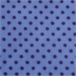 Tissu coton gris pois rose 2 mm