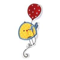 Appliqué broderie coton ~ 9 cm / oiseau 8