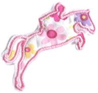 Appliqué broderie coton polaire ~ 10 cm / cheval 4