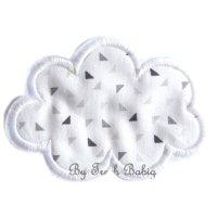 Appliqué broderie coton polaire ~ 10 cm / Nuage 4