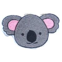 Broderie fil tête koala 1