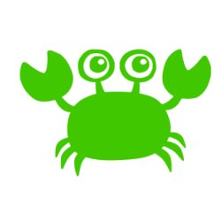 Appliqué Flex crabe 10 cm
