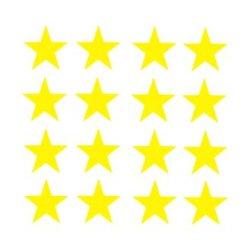 Appliqué flex étoile MINI lot de 16 / 2 cm