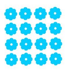 Appliqué flex fleurs MINI lot de 16 / 2 cm
