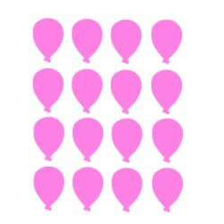 Appliqué flex ballon MINI lot de 16 / 3 cm