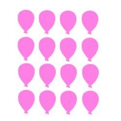 Appliqué flex ballon MINI lot de 16 / 3 cm