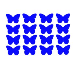 Appliqué flex papillon MINI lot de 16 / 2 cm
