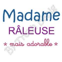 Appliqué Flex Madame Râleuse 1 / 10x15 cm