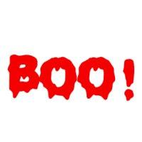 Appliqué Flex Halloween écriture BOO / 10 cm