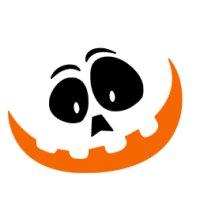 Appliqué Flex Halloween visage / 6x8cm
