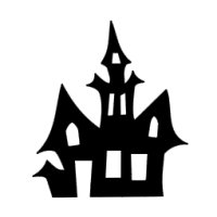 Appliqué Flex Halloween maison hantée 1 / 10 cm