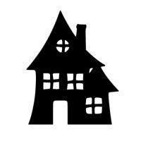 Appliqué Flex Halloween maison hantée 2/ 10 cm