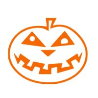 Appliqué Flex Halloween citrouille 1 / 6x8 cm