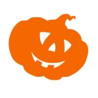Appliqué Flex Halloween citrouille 2 / 6x8 cm