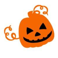 Appliqué Flex Halloween citrouille 3 / 7x8 cm