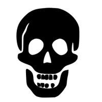 Appliqué Flex Halloween crâne 1 / 8 cm