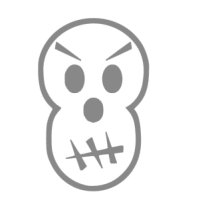 Appliqué Flex Halloween crâne 2 / 8 cm