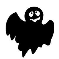 Appliqué Flex Halloween fantôme 3 / 9 cm
