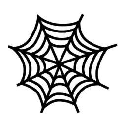 Appliqué Flex Halloween toile araignée 1 / 8 cm