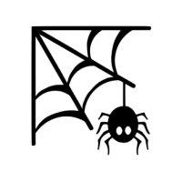 Appliqué Flex Halloween toile araignée 2 / 8 cm