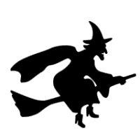 Appliqué Flex Halloween sorcière 1 / 9 cm