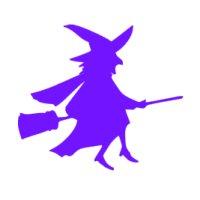 Appliqué Flex Halloween sorcière 2 / 9 cm