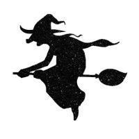 Appliqué Flex Halloween sorcière 3 / 9 cm