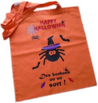 Sac Tote Bag Halloween thème Araignée