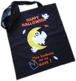 Sac Tote Bag Halloween thème Fantôme