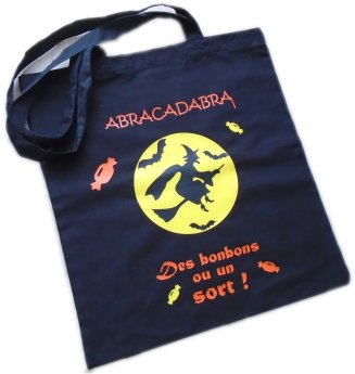Sac Tote Bag Halloween thème Sorcière