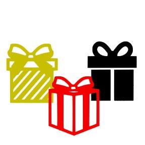 Appliqué Flex Lot de 3 cadeaux de Noël 1/ 4, 5, 6 cm