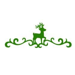 Appliqué Flex Noël fresque avec cerf